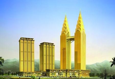重庆双子塔酒店旁边大山