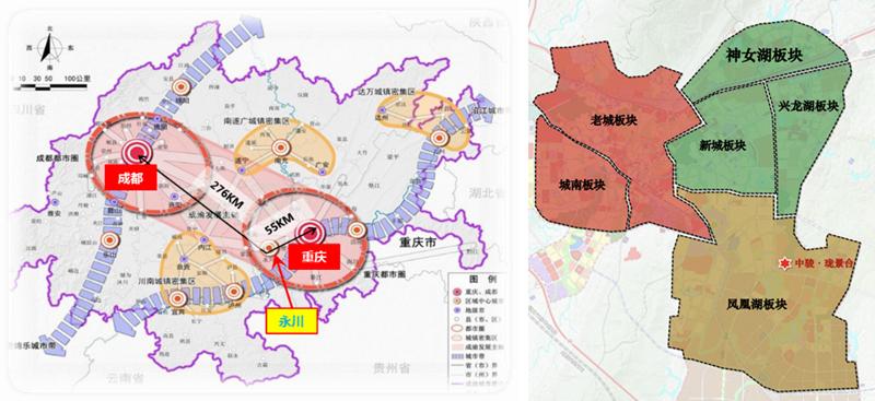 永川各乡镇地图